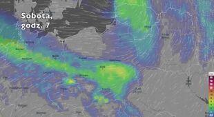 Opady deszczu w ciągu kolejnych pięciu dniu (Ventusky.com) (wideo bez dźwięku)